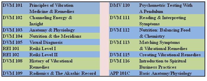 Certificate in Vibrational Medicine